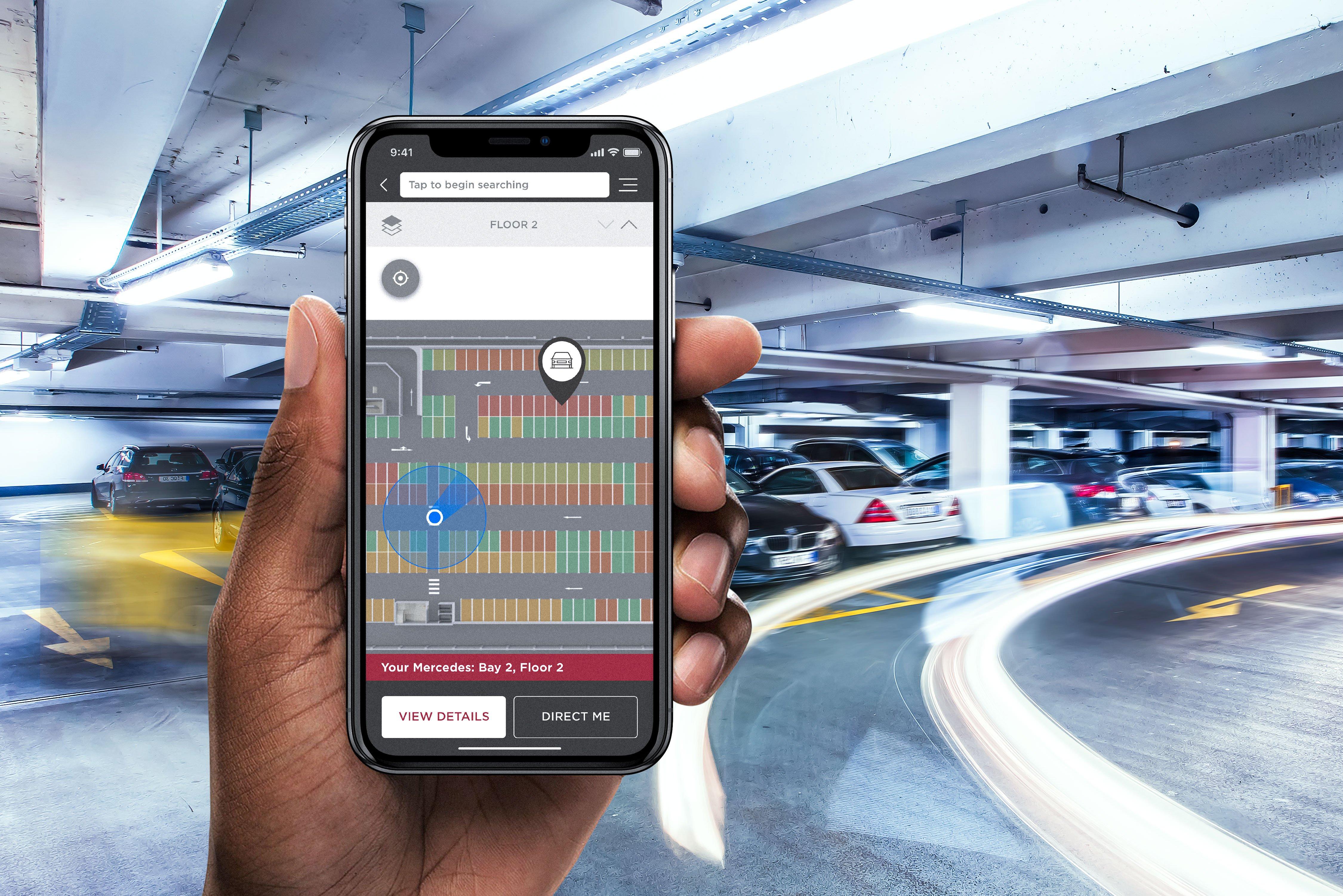 car parking phone app