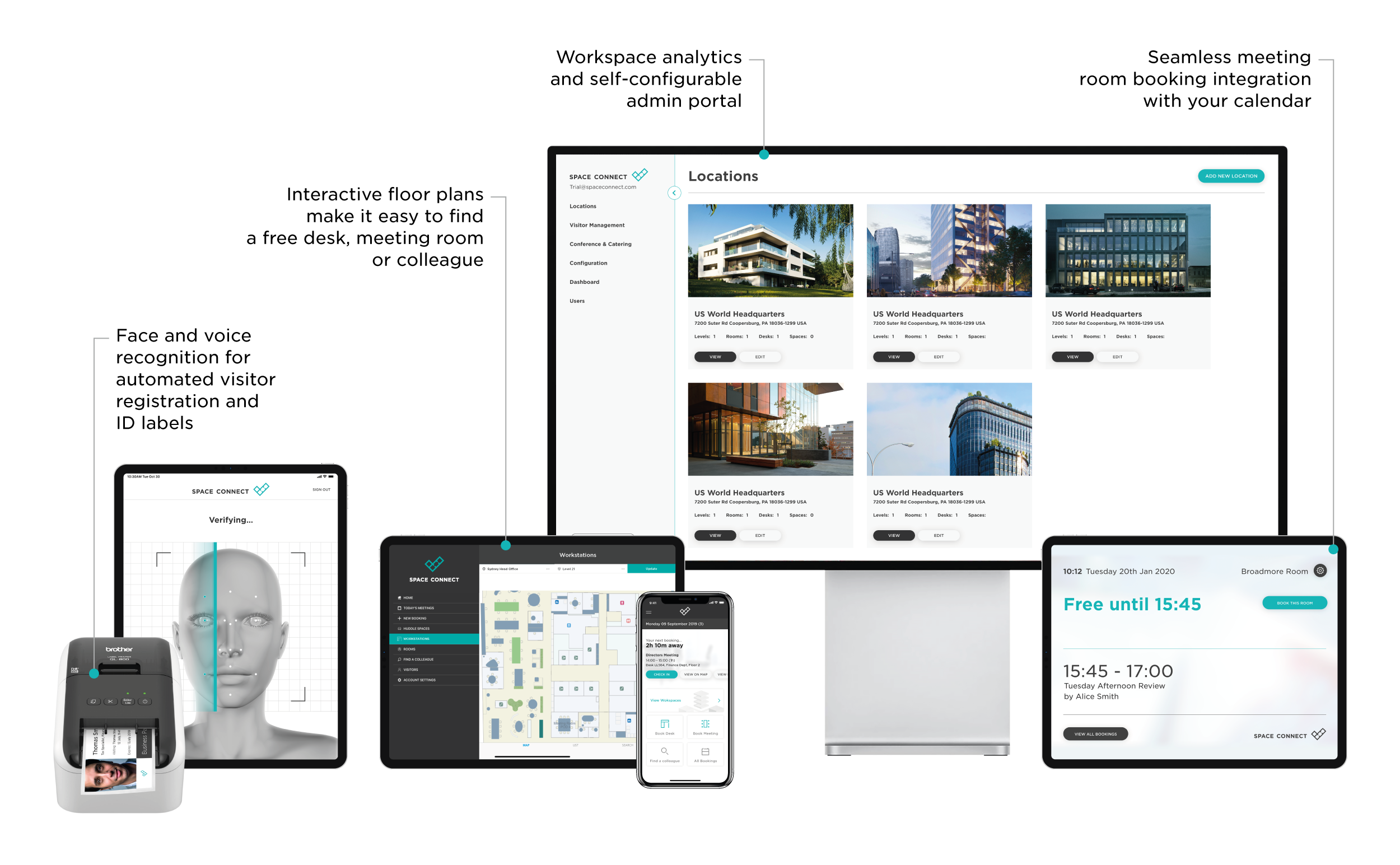 Fully configurable, end-to-end workspace management solution
